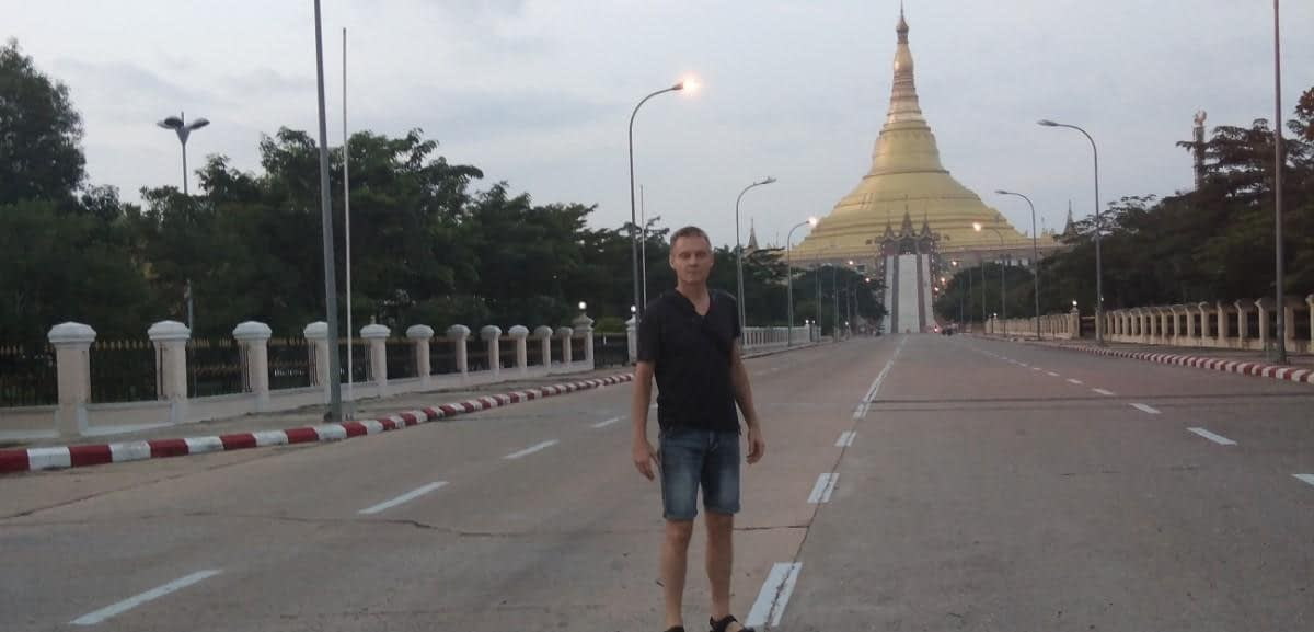 Uppatasanti Pagoda in Naypyidaw Myanmar