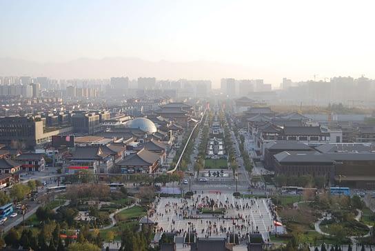 Xi'an China Urban landscape