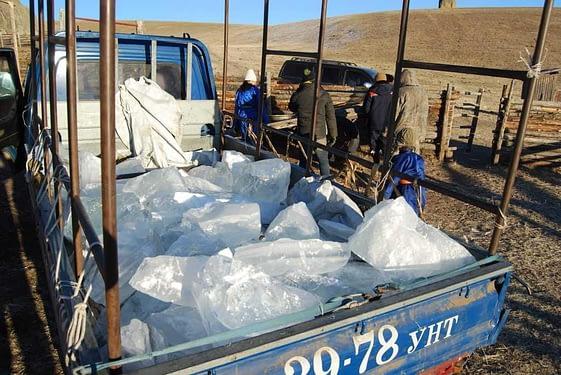 Frozen Winter Water Supply