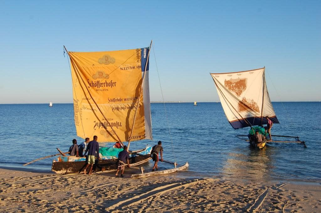 Vezo fisherman set sail in their dhow