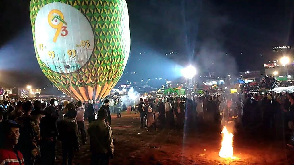 fire balloon filling