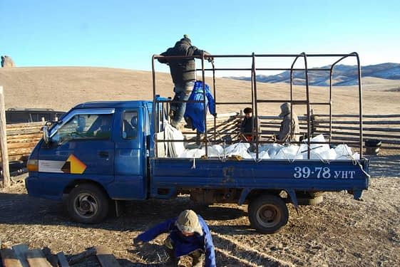 Winter Water Supply Mongolian Steppe