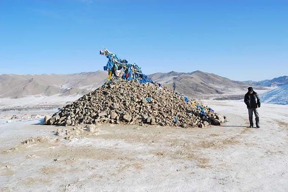 Mongolian Ceremonial Cairn