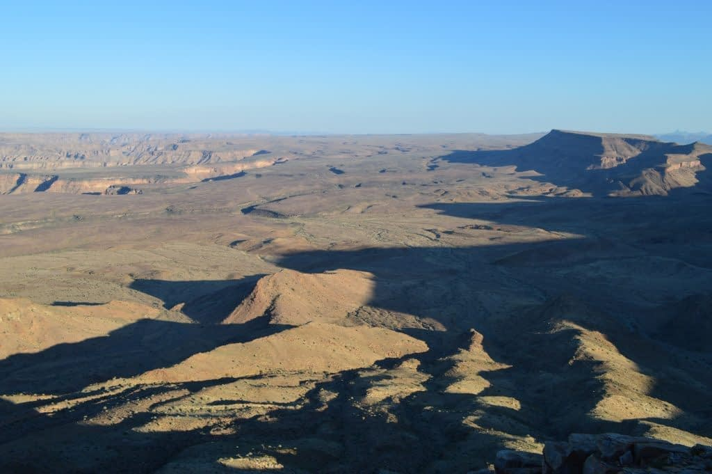 western rim Fish River Canyon