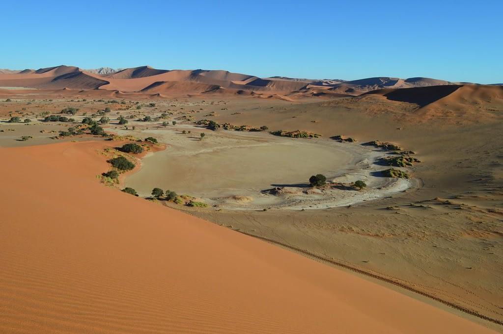 Sossusvlei Pan seen from Sand Dune