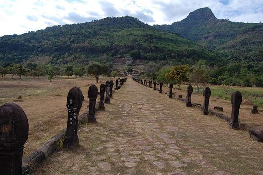 Phou Khao behind Wat Phu Temple