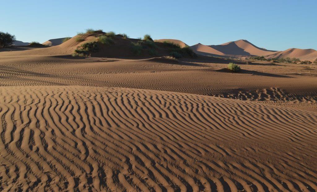 Sand formations around Sossusvlei pan