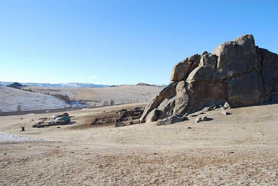 Nomad settlement Mongolian Steppe