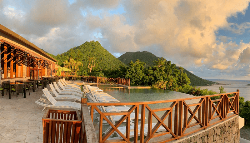 Jungle Bay Eco Villas Pool Terrace