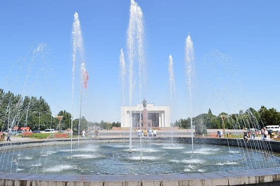 Manas Statue Ala-Too Square Bishkek Kyrgyzstan