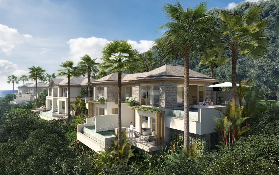 Six Senses La Sagesse, Grenada - View of Hillside Guestrooms