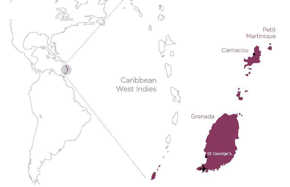 Grenada Islands area map