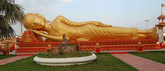 Pha That Luang Reclining Buddha