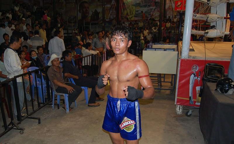 Khmer Kickboxing champion Phnom Penh Cambodia