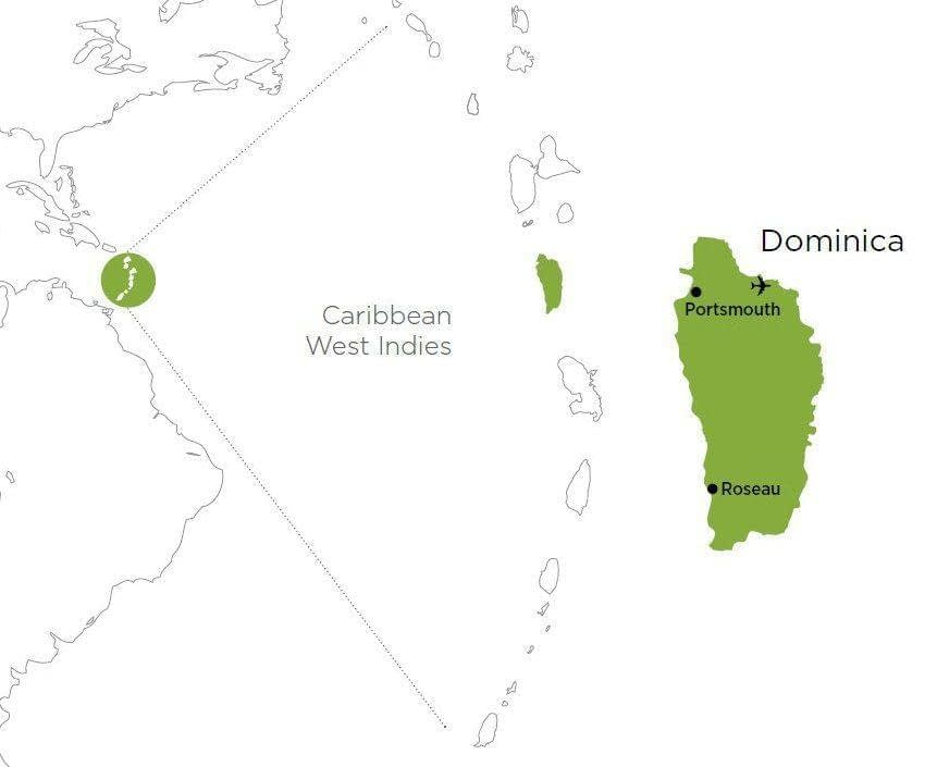 dominica area map