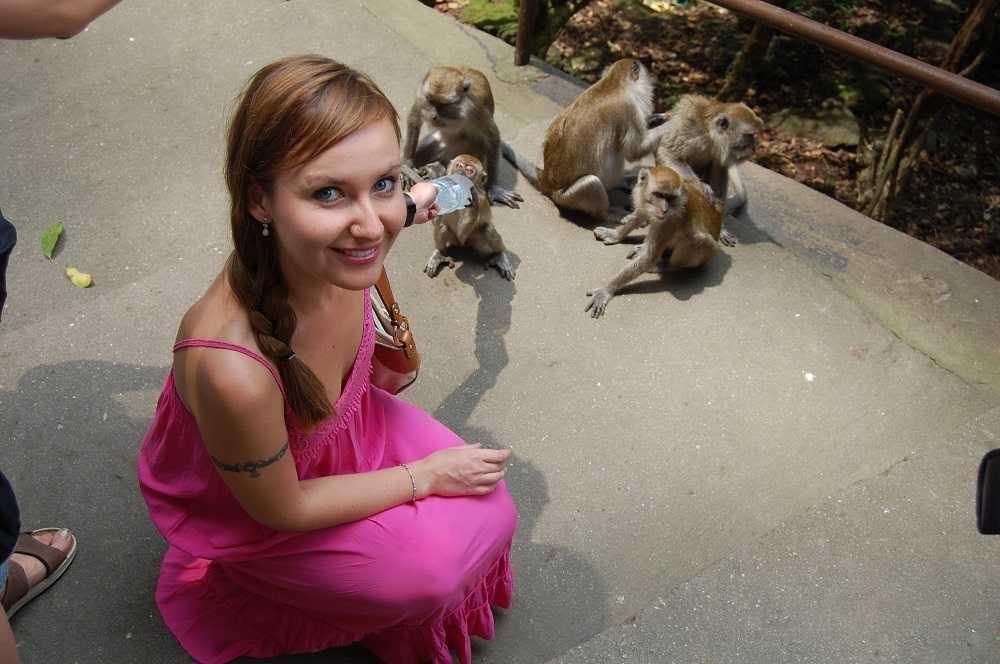 baby monkeys at Batu Caves