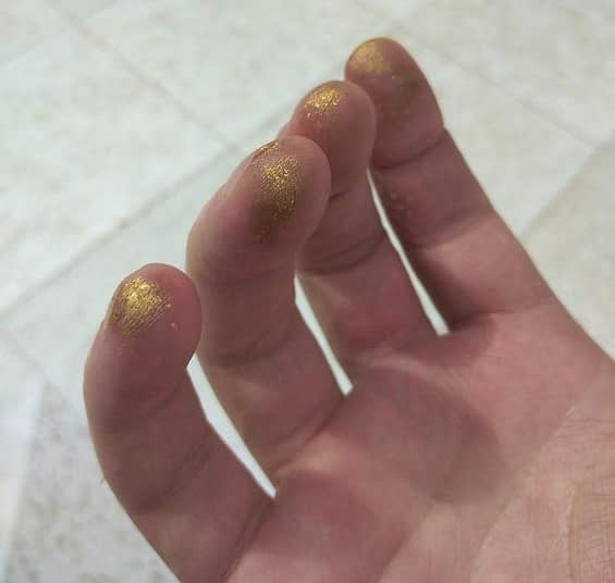 24K Gold Dust Fingers