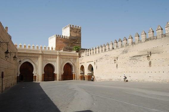 Entrance Bab Makina Plaza Fez, Morocco.