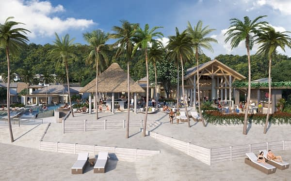 Six Senses La Sagesse, Grenada - View of All Day Dining Beachfront Terraces
